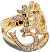 Loree Rodkin 14kt gold diamond interlinked ring