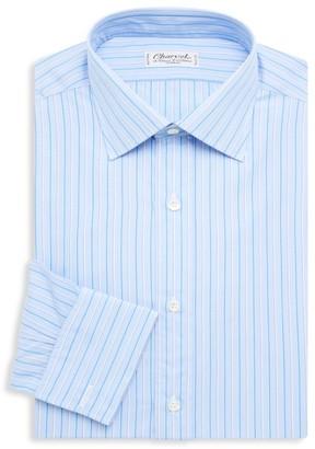 Charvet Pinstriped Cotton Dress Shirt
