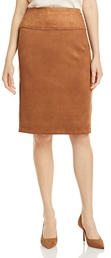 T Tahari Faux Suede Pencil Skirt