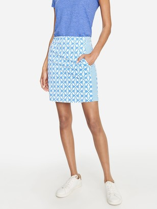 J.Mclaughlin Palm Spring Skort in Mini Geo Glass
