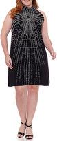 Robbie Bee Sleeveless Geometric Sheath Dress-Plus