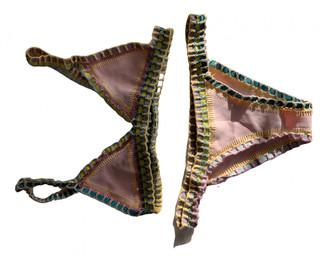 Kiini Pink Lycra Swimwear