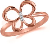Jessica Simpson Fashion Collection 10k Rose Gold Diamond Butterfly Ring