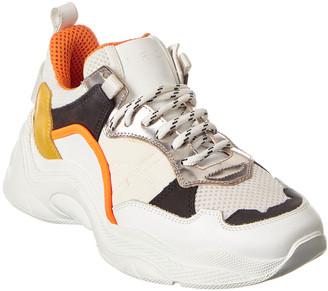 IRO Curve Runner Leather-Trim Sneaker
