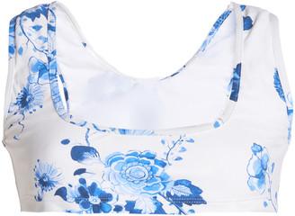 Giambattista Valli Floral Swimsuit Top