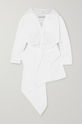 Alexander Wang Asymmetric Cotton-poplin Shirt Dress - White