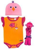 Sozo 3-Piece Birdie Welcome Home Gift Set in Orange/Pink