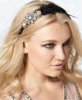Spring Street Macy's Headband, Crystal Flower Feather