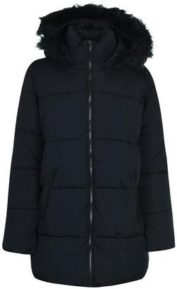 JDY Long Line Padded Hooded Coat