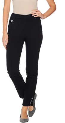 Factory Quacker DreamJeannes Pull-On Regular Ankle Pants with Grommets