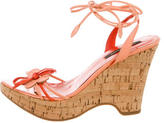 Sergio Rossi Leather Wedge Sandals