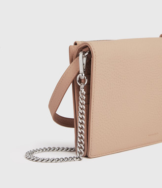 AllSaints Fetch Chain Leather Crossbody Bag