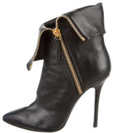 Giuseppe Zanotti Leather Pointed-Toe Ankle Boots