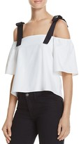 Lucy Paris Fiona Cold Shoulder Top