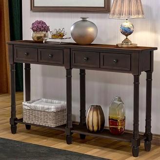 "Rosalind Wheeler Spillane 58"" Console Table Color: Brown"