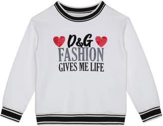 Dolce & Gabbana Girl's Fashion Gives Me Life Sweatshirt, Size 8-12