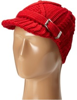 MICHAEL Michael Kors Classic Hand Knit Cable News Boy Cap