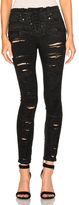 Unravel Denim Lace Up Skinny Pants in Black.