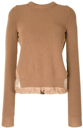 No.21 Panelled Drawstring-Waist Jumper