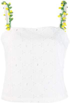 STAUD anglaise lace sleeveless top