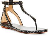 BCBGMAXAZRIA Macall Grommet Flat T-Strap Sandal