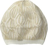 Calvin Klein Women's Shaker Stitch Cable Beret, Creme