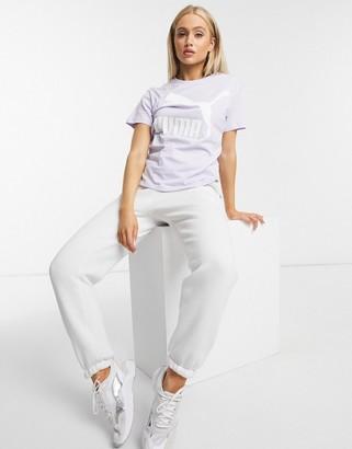 Puma Classics logo t-shirt in lilac