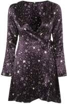 Topshop Star Print Wrap Dress