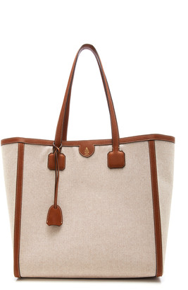 Mark Cross Antibes Leather-Trimmed Canvas Tote
