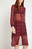 BCBGeneration Cocoon Plaid Shirt Dress - Red