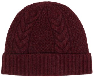 N.Peal Cable-Knit Cashmere Beanie
