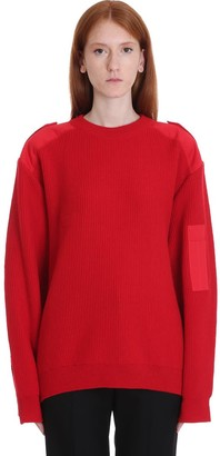 Balenciaga Knitwear In Red Wool