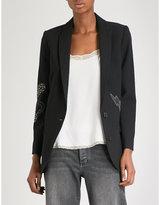 Zadig & Voltaire Viva embellished crepe blazer