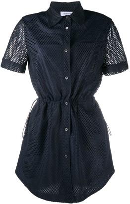 Thom Browne Heavy Mesh Shirt Dress