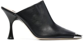 Sergio Rossi High-Heel Leather Mules
