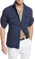 Brunello Cucinelli Linen Safari Button-Front Jacket
