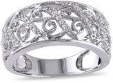 MODERN BRIDE Diamond Accent 10K White Gold Wedding Band