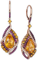 LeVian Le Vian Crazy Collection® Multi-Stone Drop Earrings (13-1/6 ct. t.w.) in 14k Rose Gold, Only at Macy's