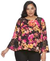 JLO by Jennifer Lopez Plus Size Floral Caftan Top