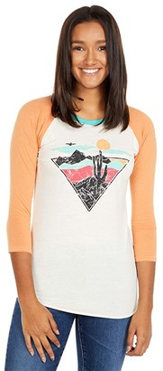 Rock and Roll Cowgirl Baseball Tee with Graphic 48T6248 (Natural) Women's Clothing