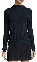 J Brand Page Ribbed Mock-Neck Sweater