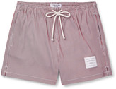 Thom Browne Slim-Fit Short-Length Striped Swim Shorts