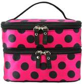 BBrie Square Bow Stripe Cosmetic Bag