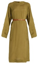 Loewe Long-sleeve sateen midi dress