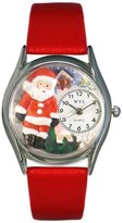 Whimsical Watches Women's S1221001 Christmas Santa Claus Red Leather Watch