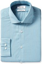 Calvin Klein Men's Slim Fit Non Iron Textured Gingham Shirt