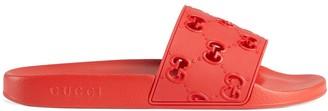 Gucci rubber GG slide sandal