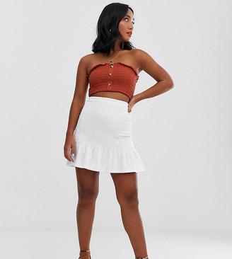 Asos DESIGN Petite shirred bask waist mini skirt