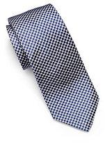 Michael Kors Houndstooth Woven-Silk Tie