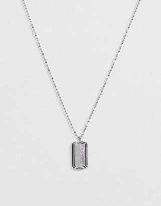 Seven London silver tag pendant